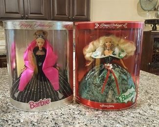 collectable Barbie dolls in original boxes