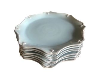 Juliska Berry & Thread Ice Blue Charger Plates, Set of 8