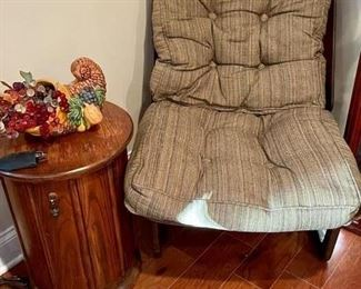 Vintage Wooden Chair With Cushion
