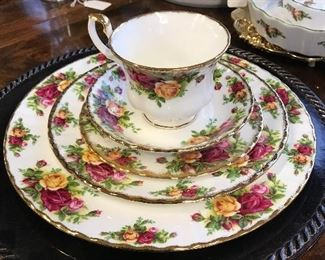 Look at this Royal Albert Place Setting...absolutely beautiful.