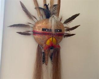 Gourd mask, signed