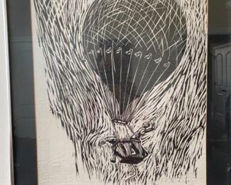 Don Harris woodblock print