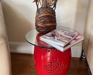 Garden stool table