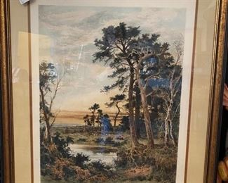 Large and well done hand colored engraving