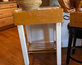 Portable kitchen work cart