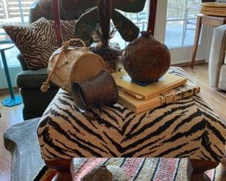 Foot store, wooden sculpture