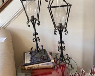 Iron hurricane candles