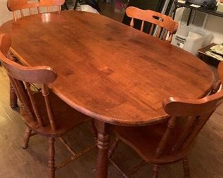 Table made in Malaysia includes 4 chairs