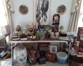 Various pottery and decor