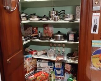 pots and pans, small appliances