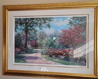 """""""Country Road"""" signed and framed giclee print by Schaefer-Miles.  37 1/2"""" wide x 24"""" tall. Framed dimensions: 51 1/2"""" wide x 39"""" high $225"""
