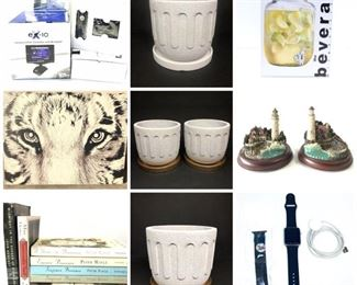 planters with trays, apple watch, etc.