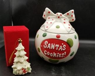 Christmas Cookie Jar and Tree Ornament