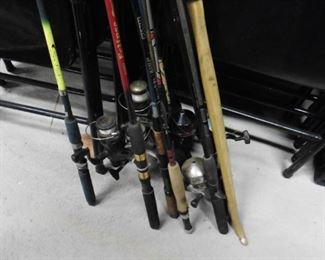 Fishing reels and poles and boxes