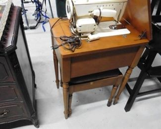 Singer sewing machine with stand and stool Highchair