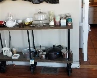 Housewares (rolling shelf not for sale)