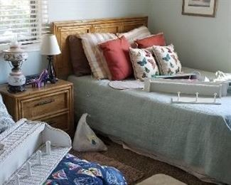 2 full-size beds with queen headboards