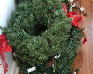 Pre-lit brand new Christmas wreaths