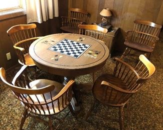 Chess/Game Table and 6 chairs