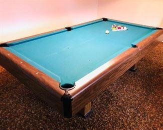 Fisher 8ft slate pool table