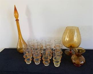 Amber Glass Set