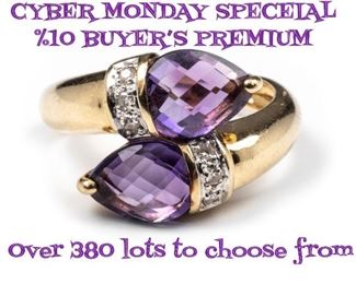 CYBER MONDAY Special %10 Buyer's Premium. Over 380 lots to choose from.