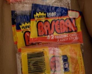89 Fleer Rack Packs- Total of 6