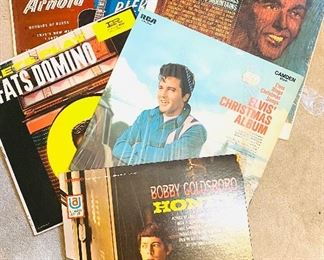 Albums, vinyl, Elvis Presley, and more