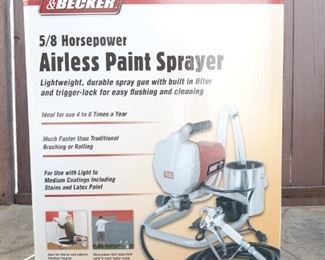 Krause Becker airless paint sprayer, new in box