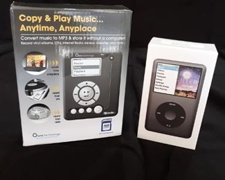 New in box Apple iPod Classic and MiCorder MP3 player and recorder