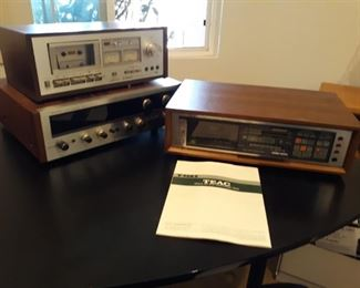 Vintage Pioneer and Teac stereo equipment
