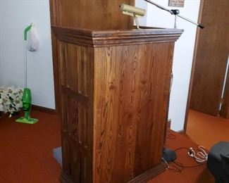 Pulpit, microphone and stand