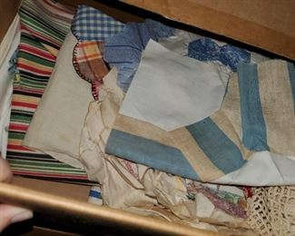 older fabric and quilt squares