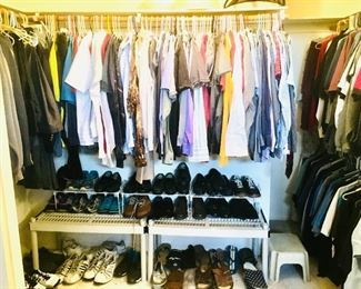 Men's Clothing Large & XL - Shoes vary 9.5 - 12