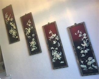(4) Asian Panels Decor