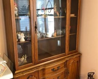 China cabinet solid wood, great for painting