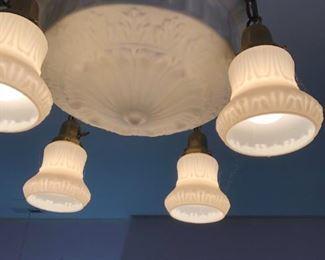 1900's vintage ceiling light