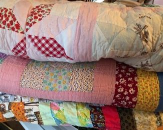Old feedsack quilts
