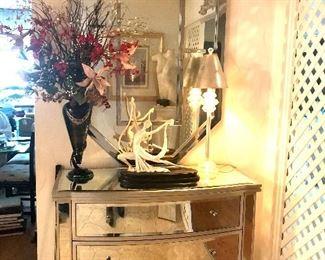 Mirrored Dresser and vintage MCM mirror