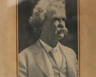 Mark Twain Photograph with Signature
