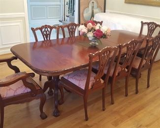"""Dining Table 77"""" x 42"""" with 2 22"""" leaves could be 99"""" or 121"""" long"""