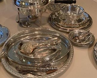 Variety of Silver plate items