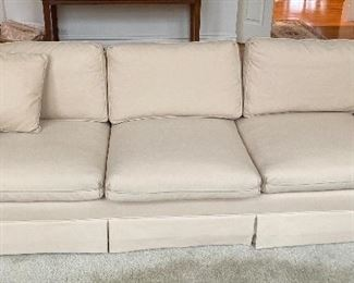 Henredon cream colored 3 seat sofa
