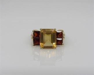Stone: Citrine & Garnet Type: Ring Metal: 14k Gold Size: 7