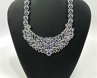 Stone: Diamond / Tanzanite Type: Necklace Weight (ct): 23.54 cts Appraisal *Appraisal*