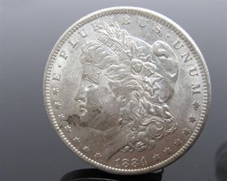 Yr: 1884 Denomination Morgan Silver Dollar