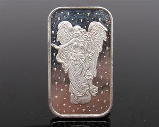 1995 1 Oz Silver Bar Angel .999