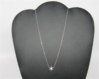 Stone: Snowflake Type: Necklace Metal: Sterling Silver Located in: Chattanooga, TN **Sold As-Is Where Is** *Gemstones Believed to Be Lab Created*