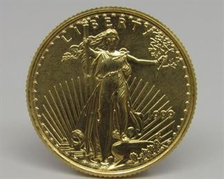Yr: 1999 Denomination American Eagle $10 Gold Series: Coin Uncirculated Located in: Chattanooga, TN **Sold As-Is Where Is** 1/4 oz 69A-6145