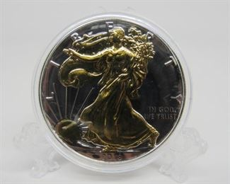 Yr: 2018 Denomination American Eagle Dollar Located in: Chattanooga, TN **Sold As-Is Where Is** Gold Plated 1oz